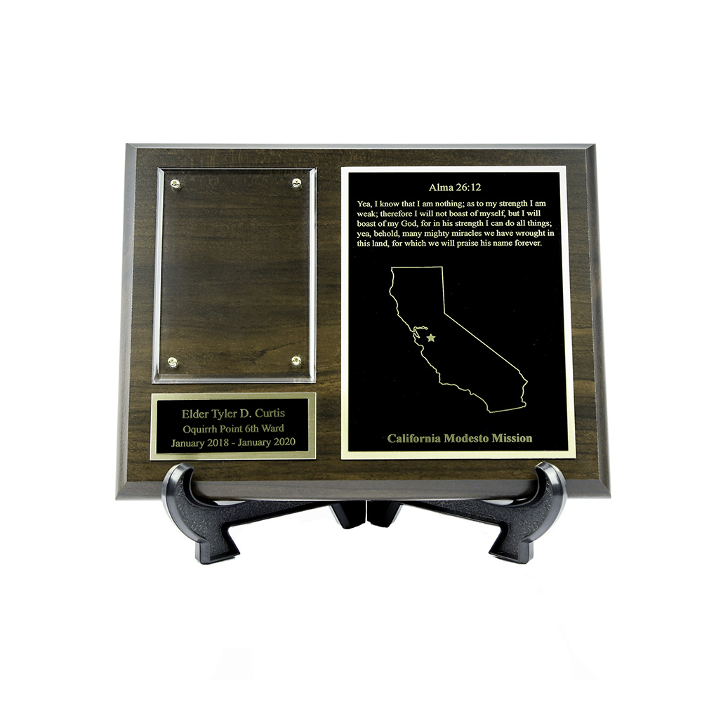 Missionary Plaque - 7x9, Gold/Silver - LDP-MP7x9