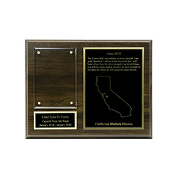 Missionary Plaque - 7x9, Gold/Silver