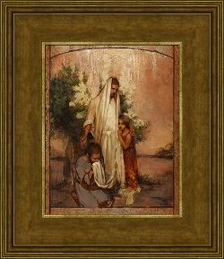 Balm of Gilead - Framed annie henrie art, lds gifts, lds framed art, pictures of christ