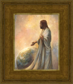 The Creation - Framed annie henrie art, lds gifts, lds framed art, pictures of christ, the creation, art on the creation