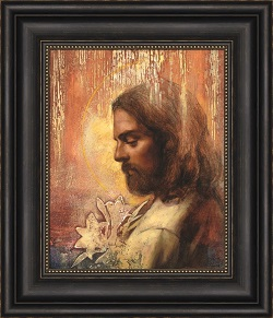 Redeeming Grace - Framed annie henrie art, lds gifts, lds framed art, pictures of christ
