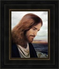 On The Shores Of Galilee - Framed lds gifts, lds framed art, pictures of christ