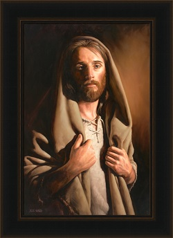 Watch With Me - Framed pictures of christ, portraits of christ, jeff ward art, lds artwork, lds gifts, living christ, living christ picture