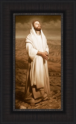 Heavenward - Framed pictures of christ,christ walking on water painting, joseph Brickey art, lds artwork, lds gifts, living christ, living christ picture