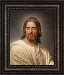The Anointed One - Framed pictures of christ, portrait of christ, joseph Brickey art, lds artwork, lds gifts