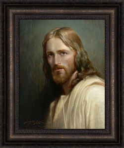 Man of Galilee - Framed pictures of christ, portrait of christ, joseph Brickey art, lds artwork, lds gifts