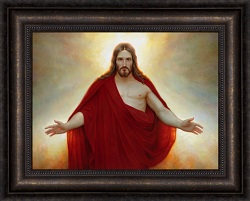 Living Christ - Framed pictures of christ, portrait of christ, joseph Brickey art, lds artwork, lds gifts, living christ, living christ picture