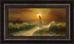 Walking On Water - Framed pictures of christ,christ walking on water painting, joseph Brickey art, lds artwork, lds gifts, living christ, living christ picture