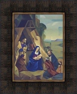 Nativity - Framed nativity framed, nativity picture, jorge cocco, lds artwork