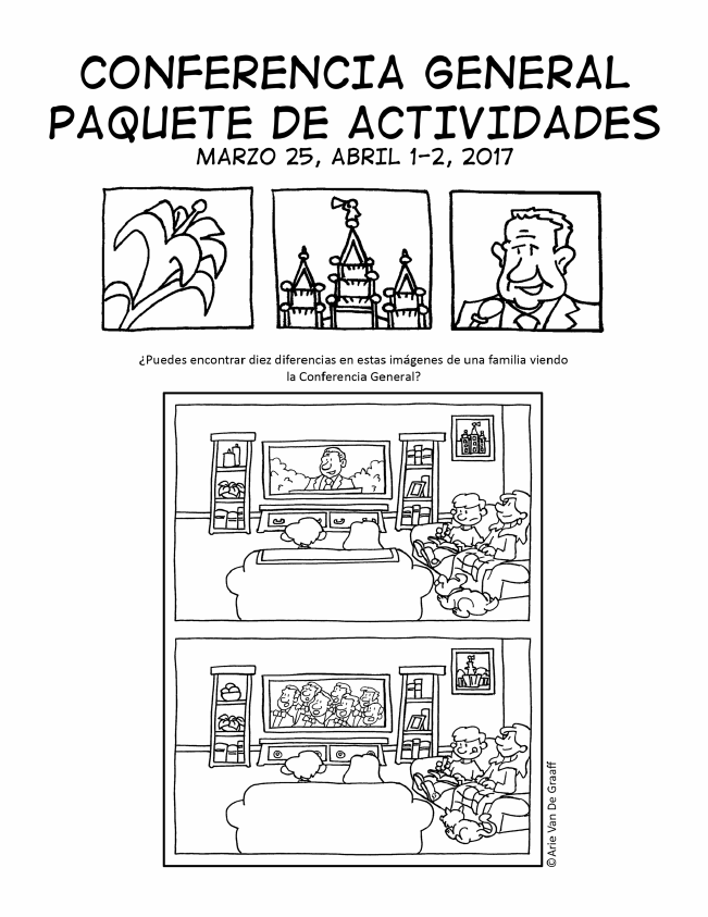 April 2017 General Conference Activity Packet Printable - Spanish in ...