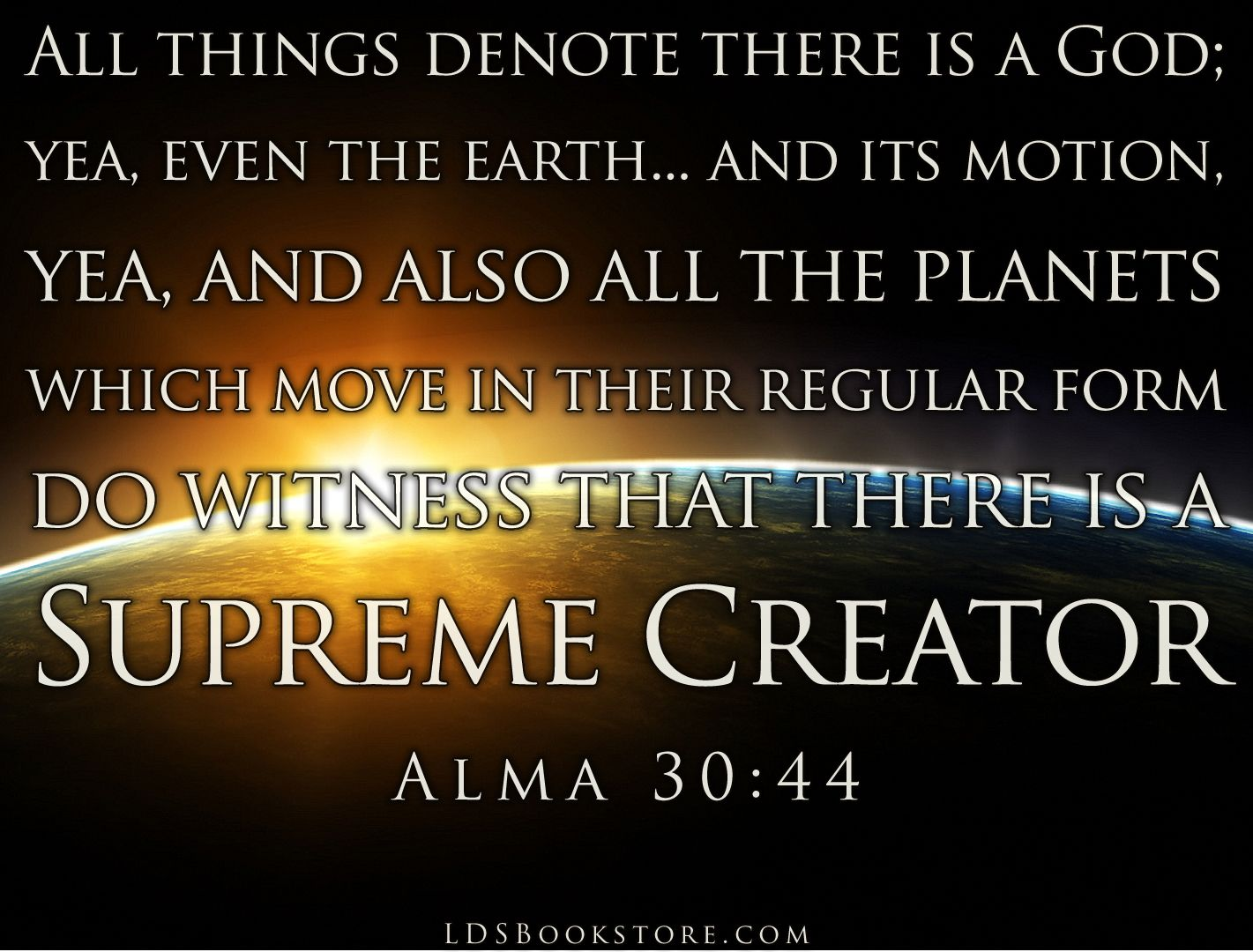 All Things Denote There is a God