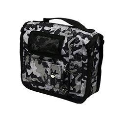 Black and White Camo Scripture Tote with Compass