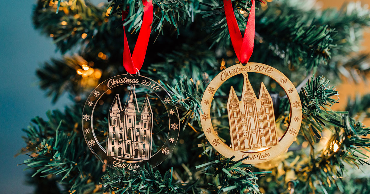 - LDS Christmas Ornaments Temples, CTR Christus, Moroni, Mission & More