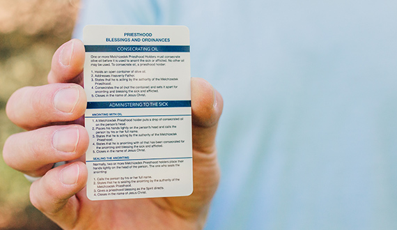 Pocket Priesthood Ordinance Card