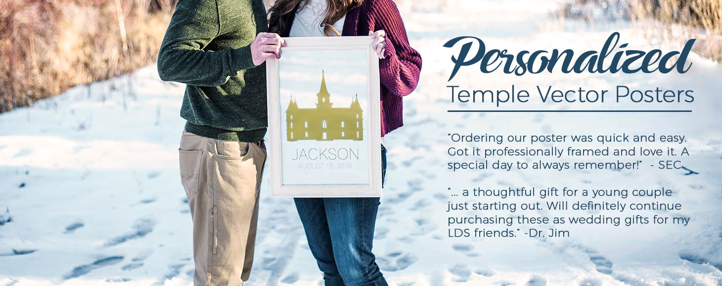LDS Temple Posters