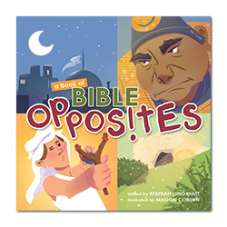 A Book of Bible Opposites Board Book bible board books, hard cover books
