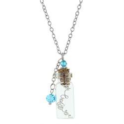 Believer Pendant in a Bottle Necklace