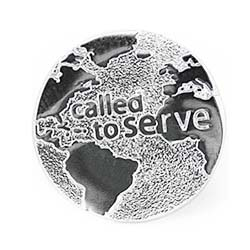 Called to Serve Globe Tie Tack - CF-P58003