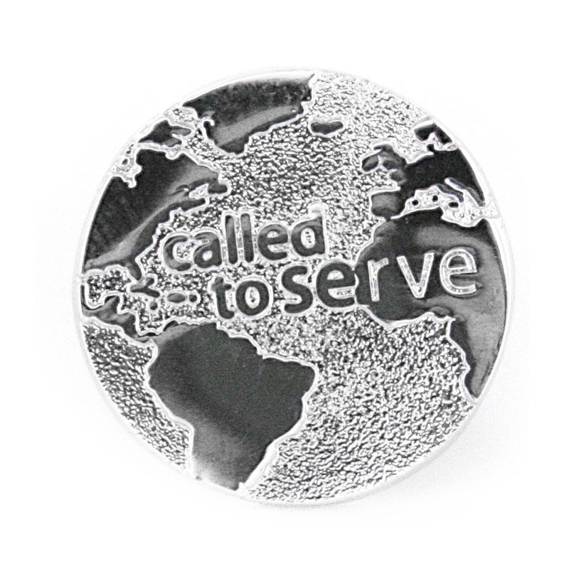 Called to Serve Globe Tie Tack - CF-P58003