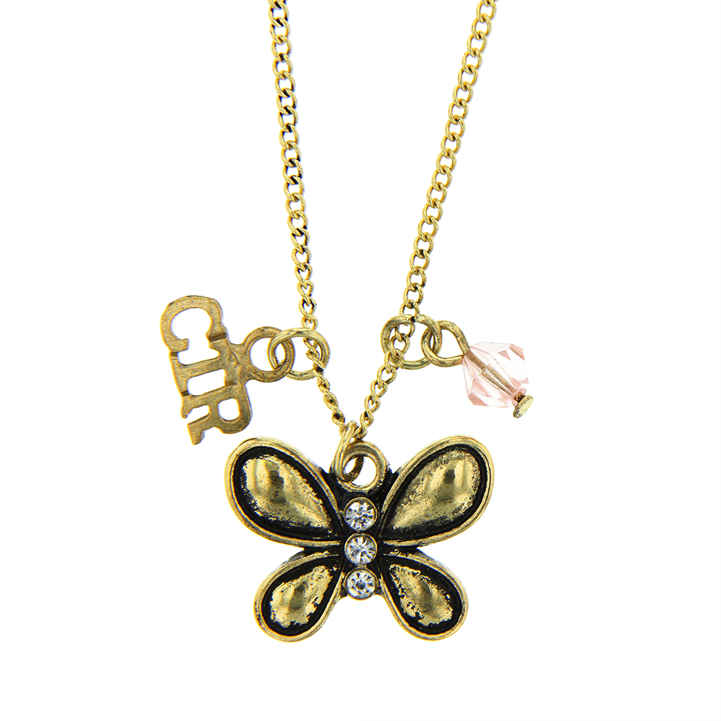 CTR Butterfly Gems Necklace - CF-P70033