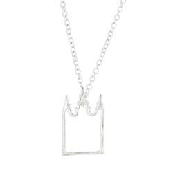 Salt Lake Temple Outline Necklaces - Silver