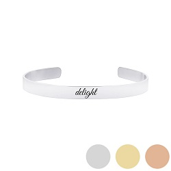 Delight - His Word Cuff Bracelet