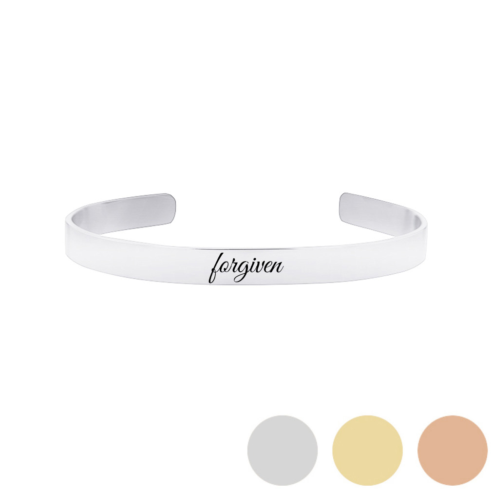 Forgiven - His Word Cuff Bracelet - LDP-CFB104