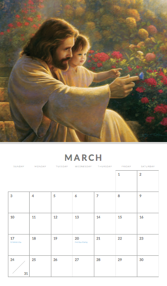 2019 Greg Olsen Calendar - COS-9780997507423