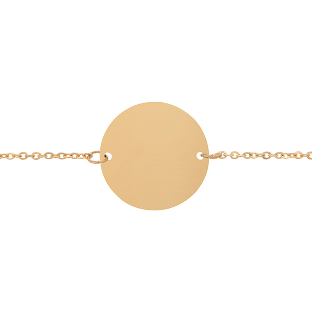 Customizable Circle Pendant Bracelet - LDP-CPB
