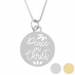 Peace In Christ Circle Pendant Necklace - LDP-CPN203