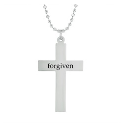 Forgiven - His Word Cross Necklace