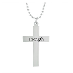 Strength - His Word Cross Necklace his word cross necklace, strength cross necklace, Isaiah 40:31 cross necklace, scripture cross necklace, scripture necklace