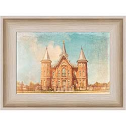 Provo City Center Temple Blue Antique - Framed