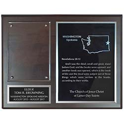 Missionary Plaque - 8x10, Gold/Silver - LDP-MP8x10