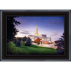 Bountiful Temple Fall Sunrise - Framed
