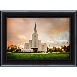 Vancouver Temple Sunset - Framed