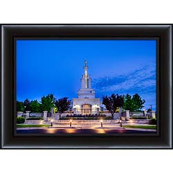Columbia River Temple Early Morning Front - Framed