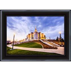 Calgary Temple Sunset Corner - Framed