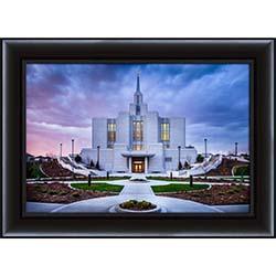 Calgary Temple Sunset Side - Framed - D-LWA-SJ-CTSS-8D18882
