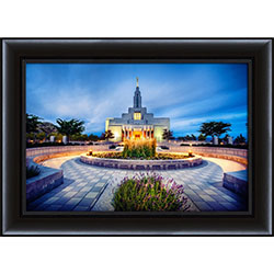 Draper Temple Morning Twilight - Framed