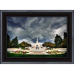 Denver Temple Stormy Skies - Framed