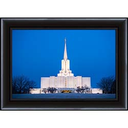 Jordan River Temple Winter Morning - Framed