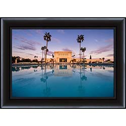 Mesa Temple Sunset Reflection - Framed