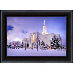 Mt. Timpanogos Temple After Snow - Framed