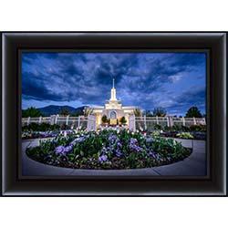 Mt. Timpanogos Temple Flowers - Framed - D-LWA-SJ-MTTF-8D12531
