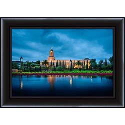 Newport Beach Temple After Morning Rain - Framed
