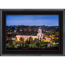 Newport Beach Temple From Hill - Framed
