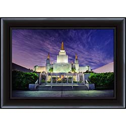 Oakland Temple Twilight - Framed - D-LWA-SJ-OTT-7364715