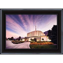 Provo Temple Sunrise Walkway - Framed