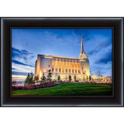 Rexburg Temple Twilight Side - Framed - D-LWA-SJ-RTTS-8D15253